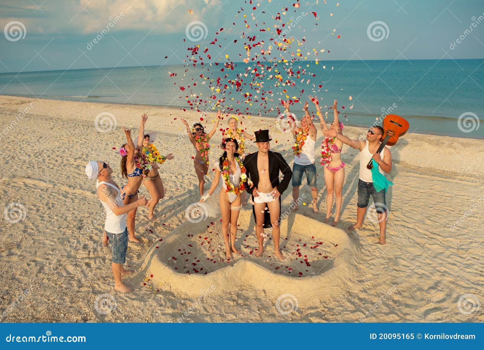 Beach wedding stock image image of exotic glad groom 20095165 beach wedding junglespirit Images
