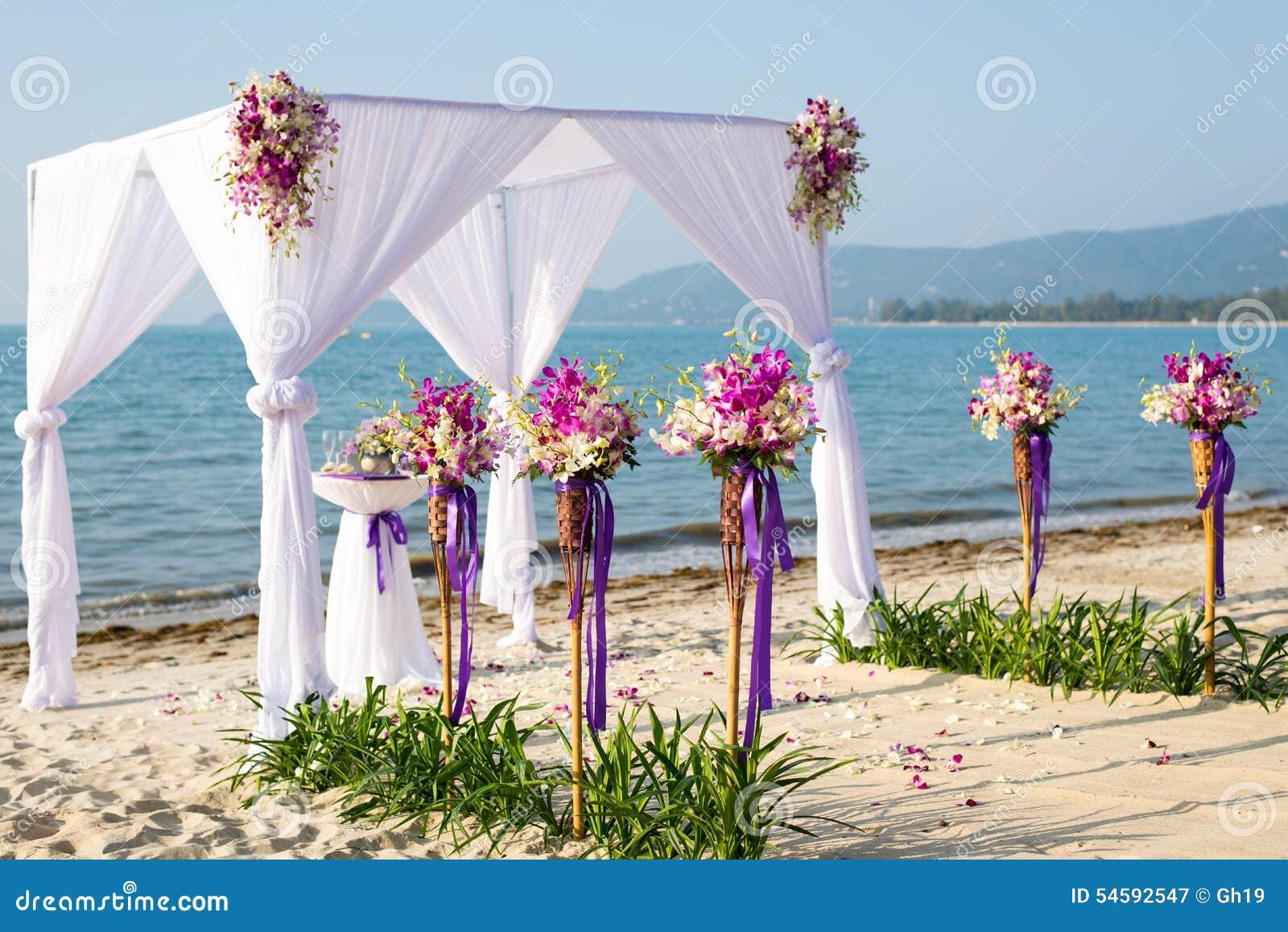 Beach Wedding Canopy Stock Image Image Of Outdoors