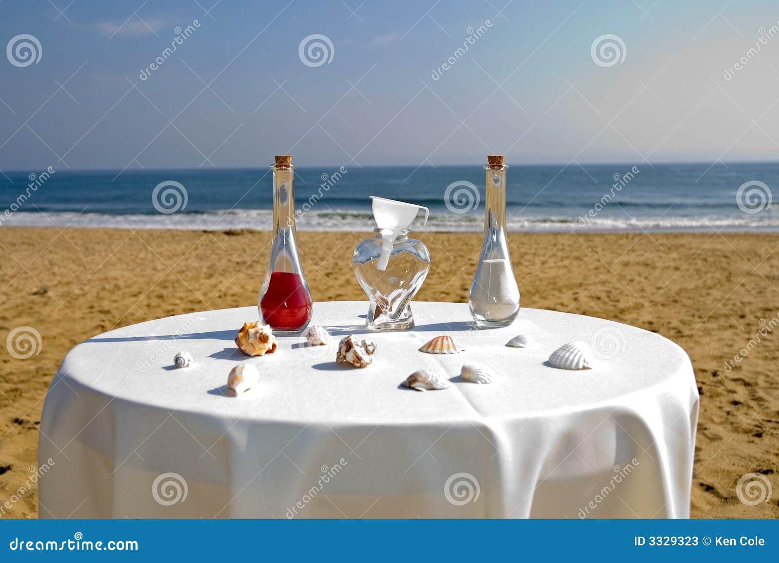 Beach wedding ceremony stock image Image of