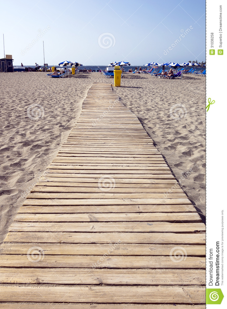 Wooden Walkway Stock Image Cartoondealer Com 78103105