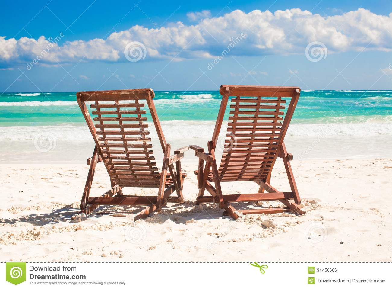 d70f30eca22 Beach Wooden Chairs For Vacations And Relax On Stock Photo - Image ...
