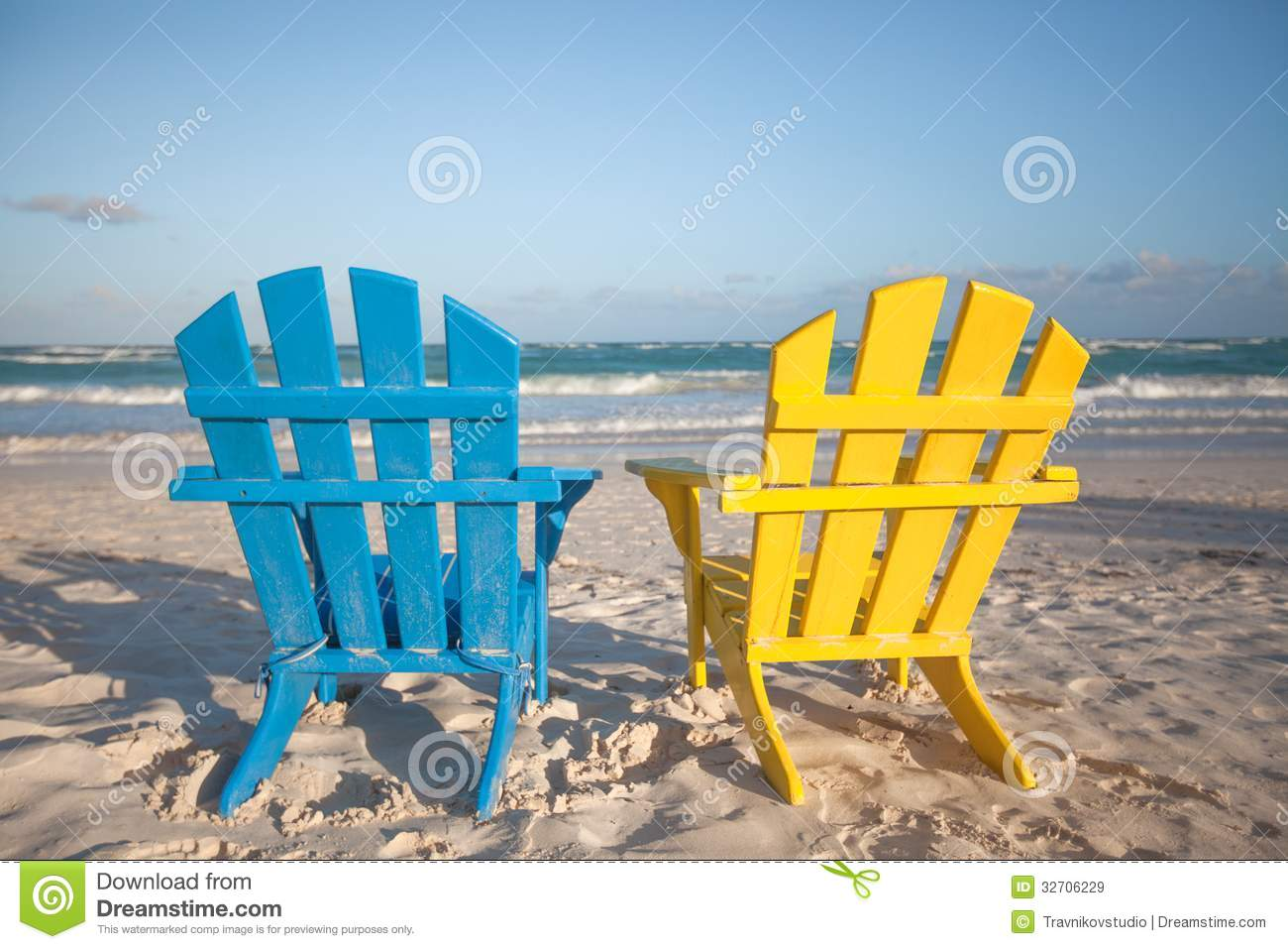 Beach wooden chairs for vacations and summer & Beach Wooden Chairs For Vacations And Summer Stock Image - Image of ...