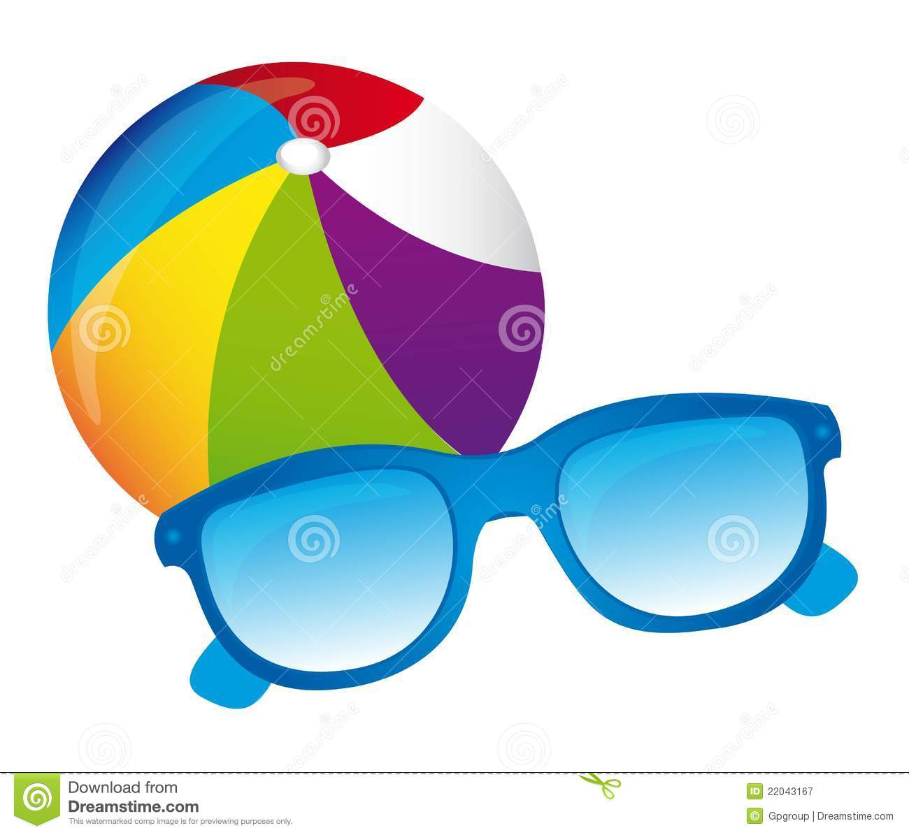 Beachball, Sunglasses Vector Royalty Free Stock Photography - Image ...
