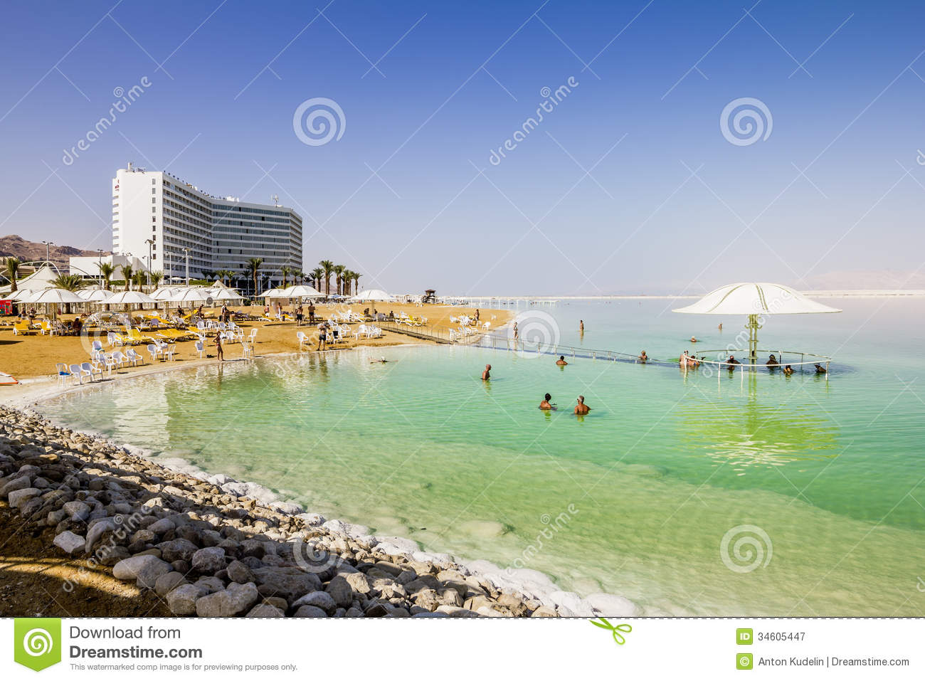 The Beaches At The Dead Sea In Israel Editorial