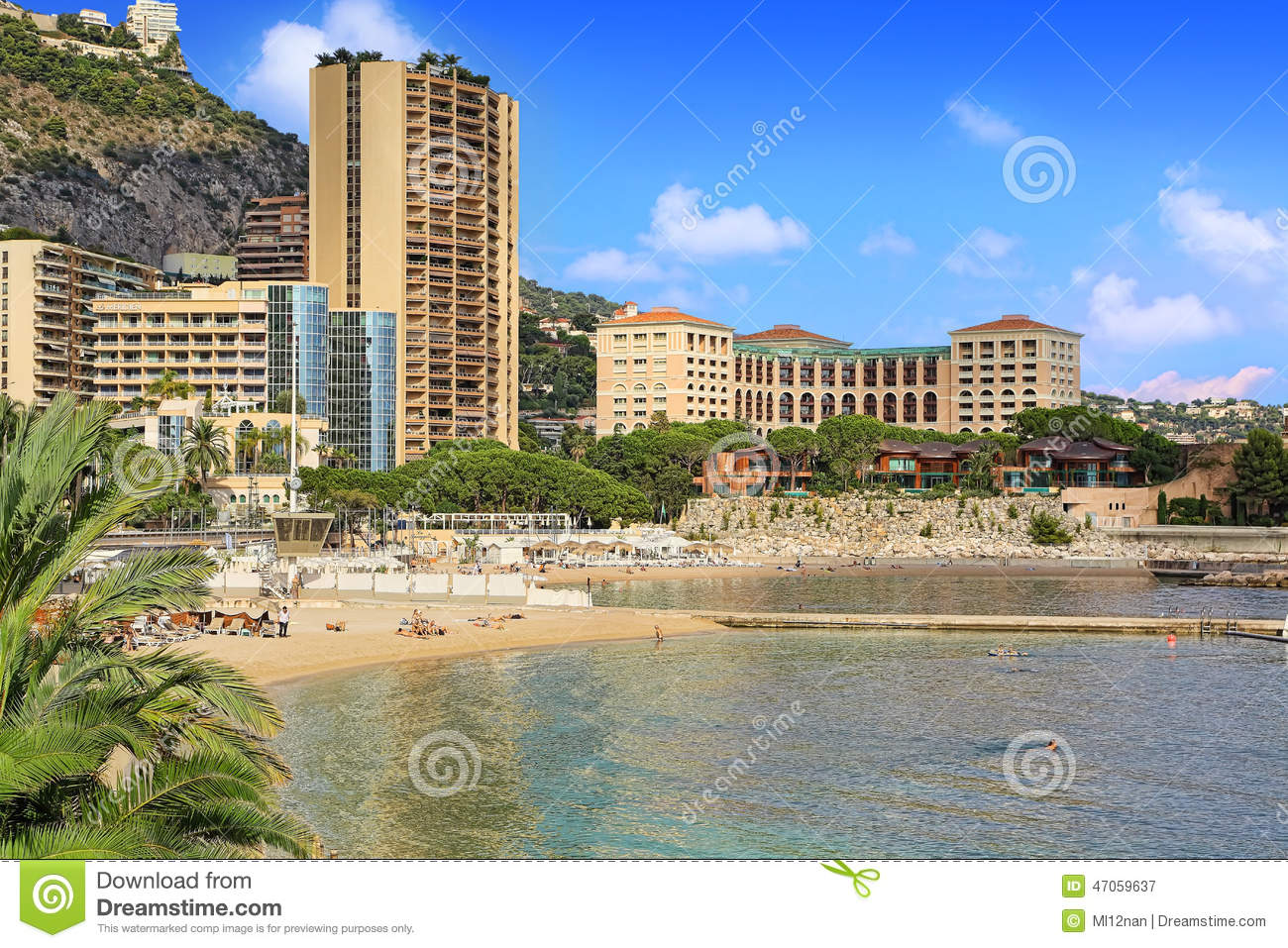 Beaches In Monte Carlo Editorial Photography  Image Of