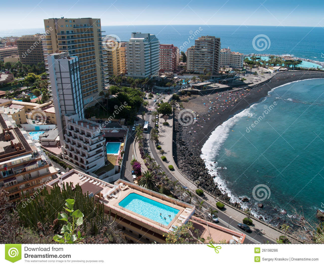 Tenerife Spain  city images : Beaches Of Puerto De La Cruz, Tenerife, Spain Royalty Free Stock Image ...