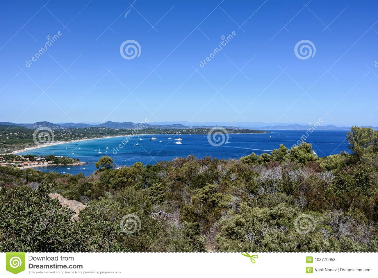 The Large Of Saint Tropez Beach Mood Stock Image Image Of Front
