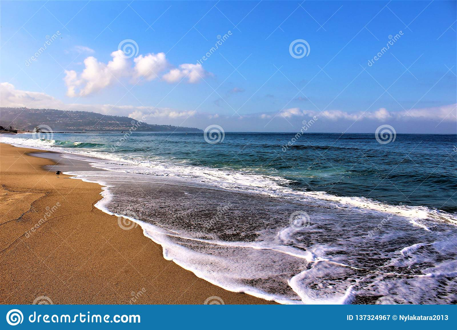 Beachfront bij Hermosa-Strand Californië in de Provincie van Los Angeles, Californië, Verenigde Staten