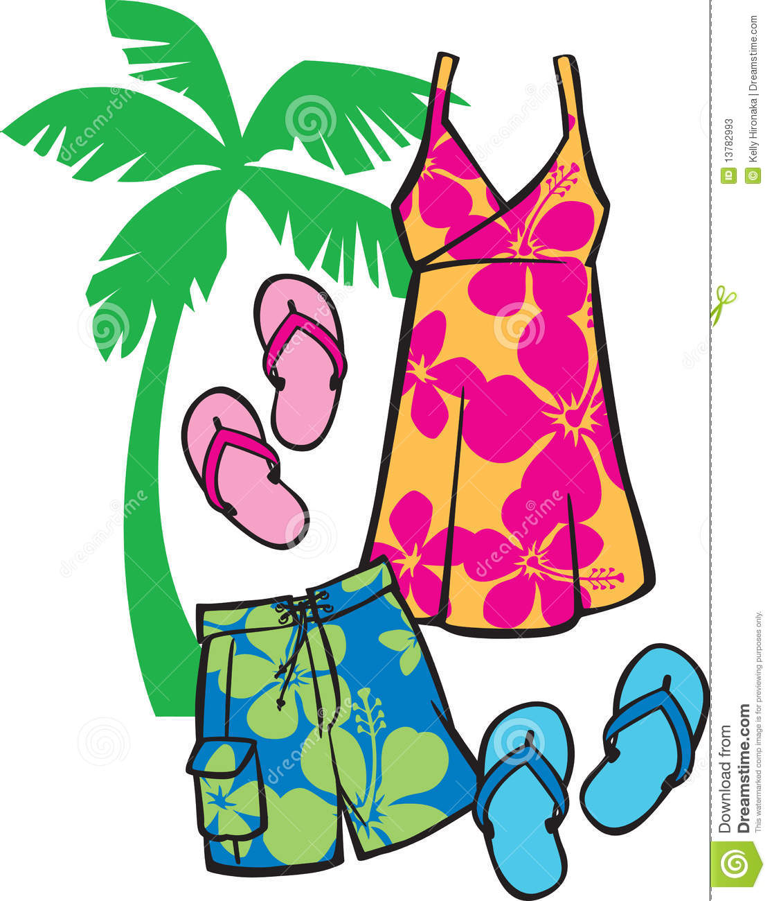 Beachwear tropical