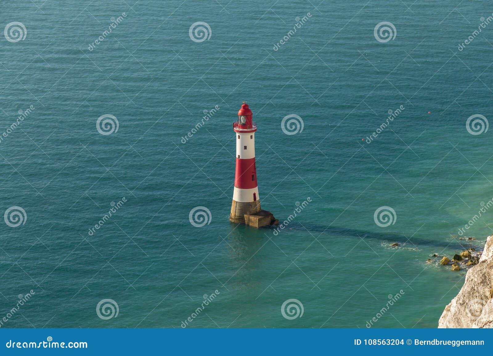 Beachy Head fyr, östliga Sussex, UK