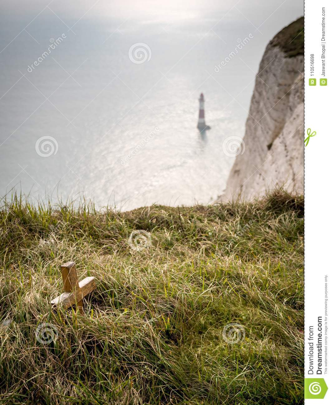 Beachy Head Suicide Spot And Memorial Stock Photo - Image ...