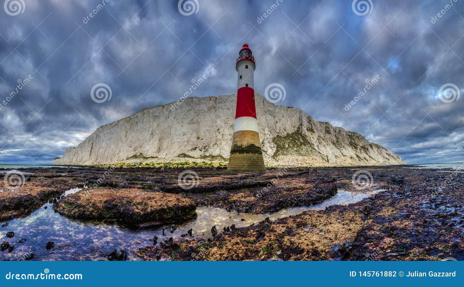 Beachy huvudljus, East Sussex, UK