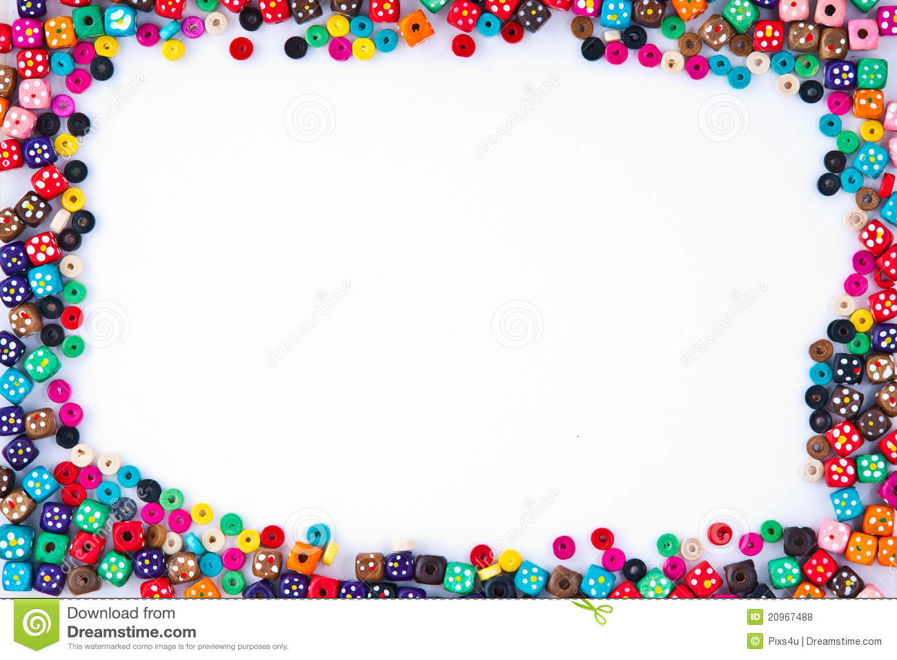 Bead Frame Royalty Free Stock Photos Image 20967488