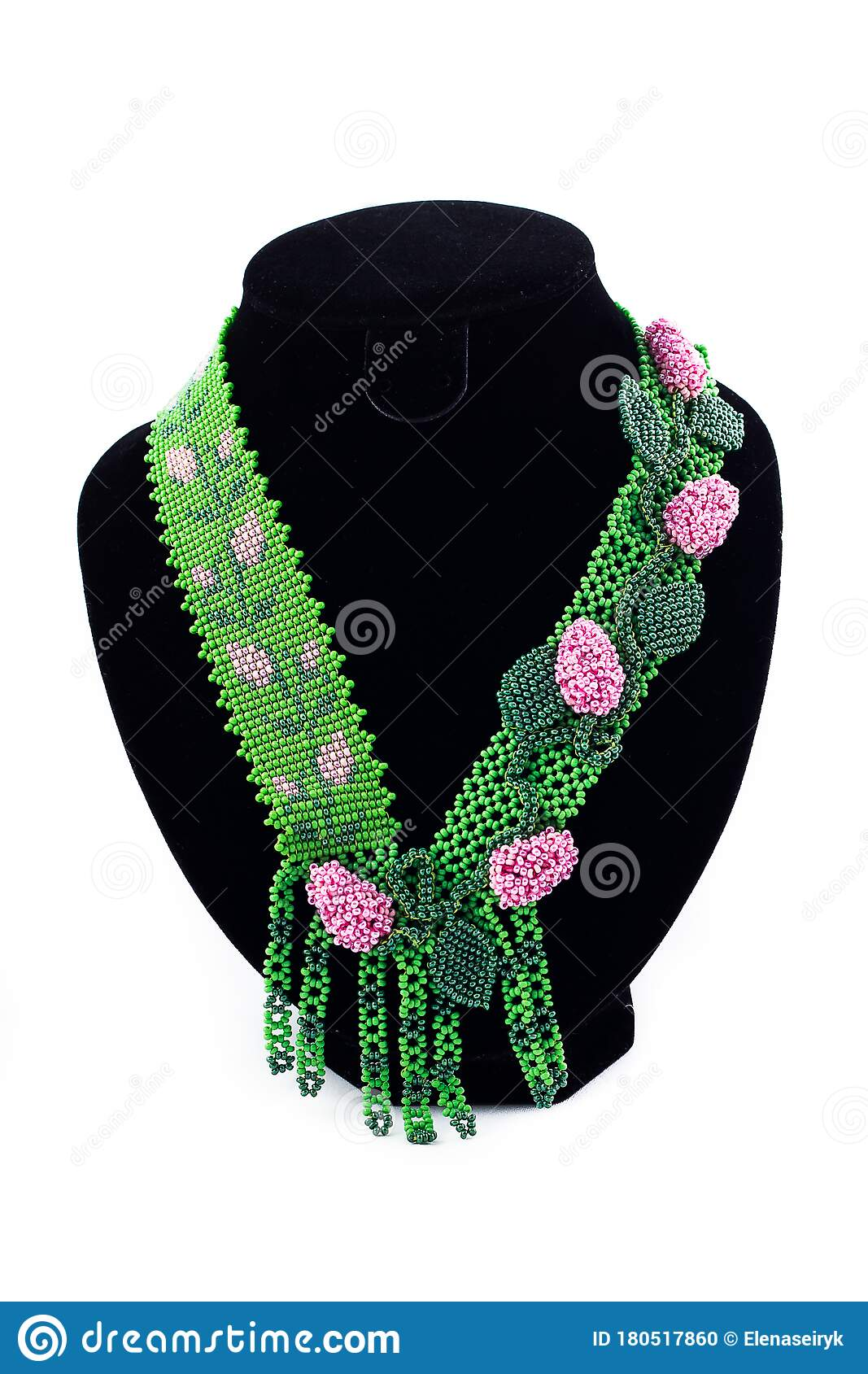 Necklace Ornament with flowers