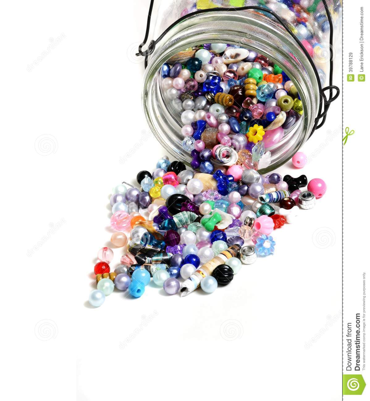 Beads in glass jar for crafts jewelry stock image image for Glass jewels for crafts
