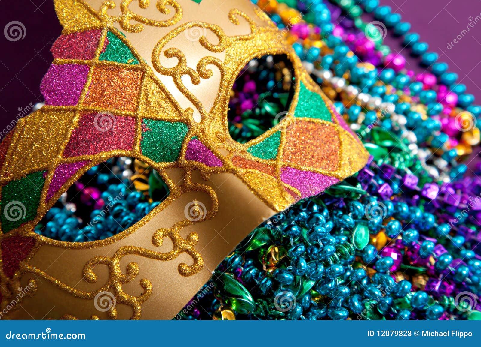Beads maskeringen för guldgrasmardien
