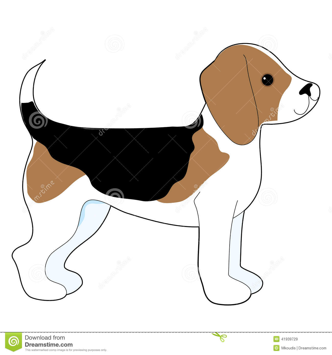 Beagle Stock Vector Image 41939729