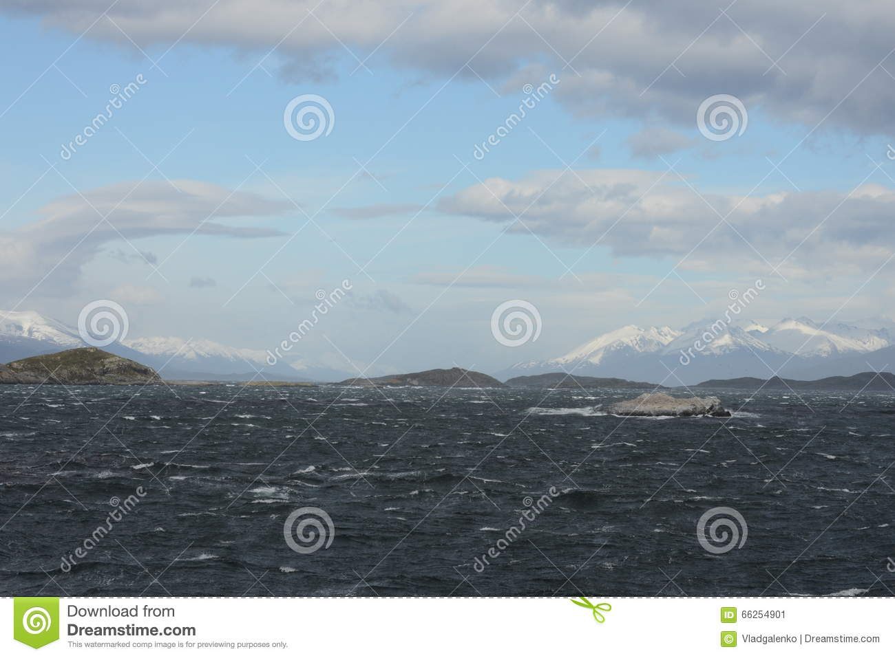 Download The Beagle Channel Separating The Main Island Of The Archipelago Of Tierra Del Fuego And Lying To The South Of The Island. Stock Image - Image of strait, chile: 66254901