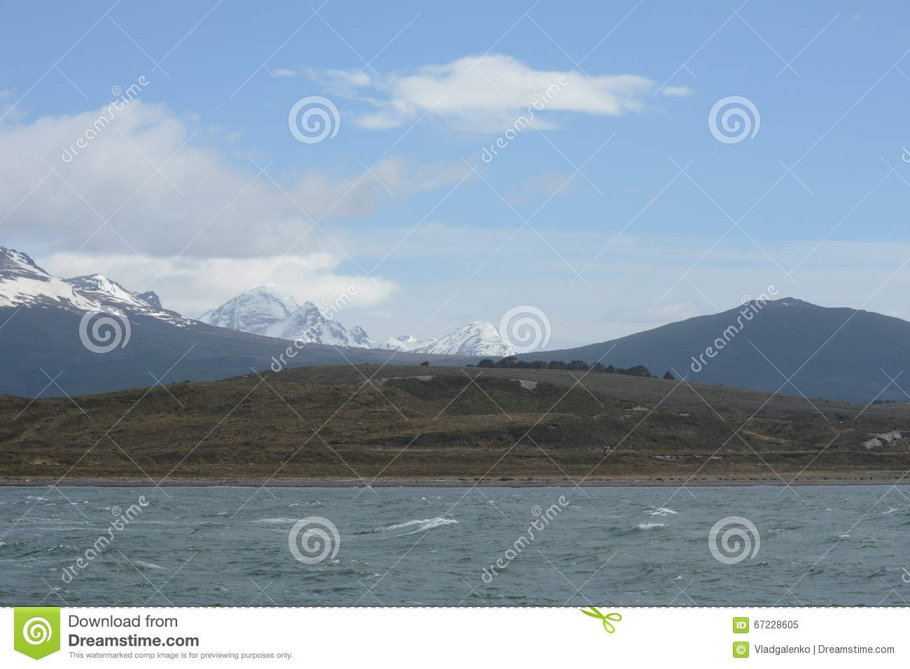 Download The Beagle Channel Separating The Main Island Of The Archipelago Of Tierra Del Fuego And Lying To The South Of The Island. Stock Image - Image of coast, chile: 67228605