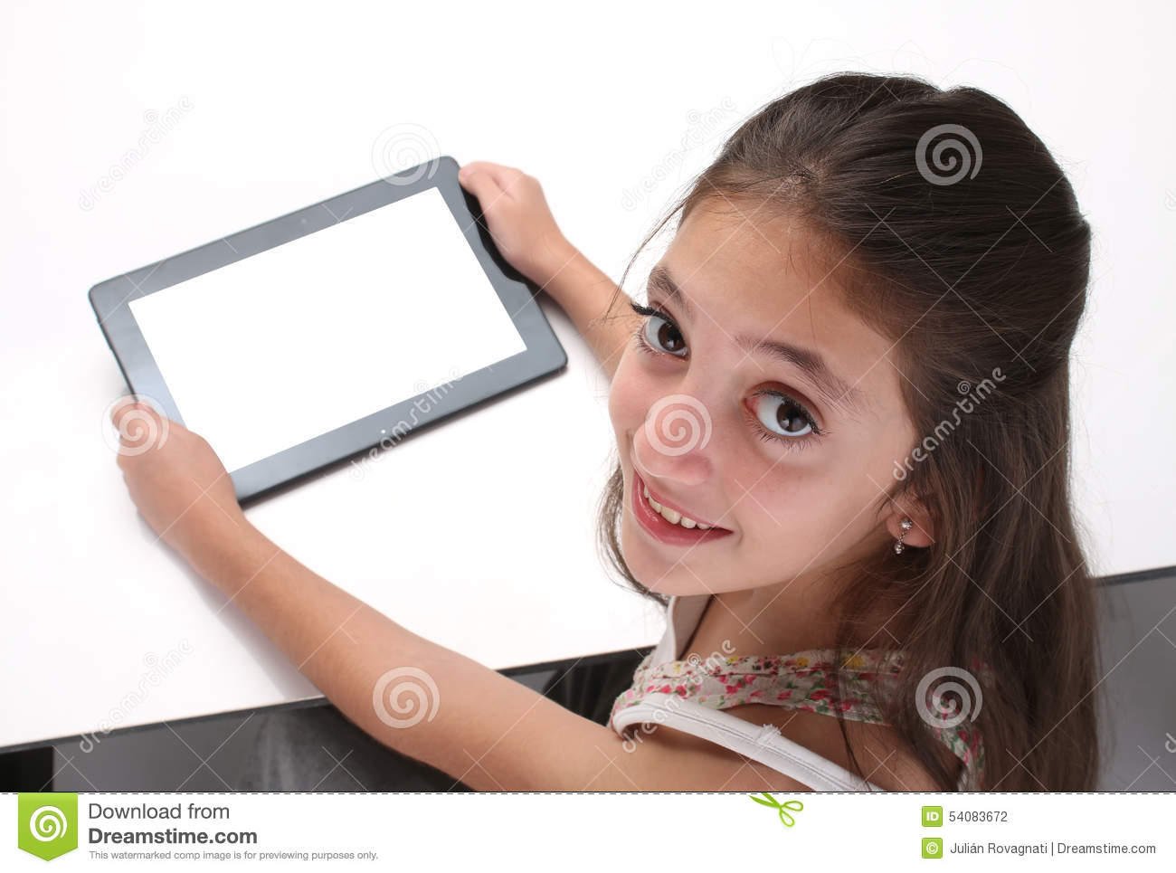 Ist teen using computer but goodie