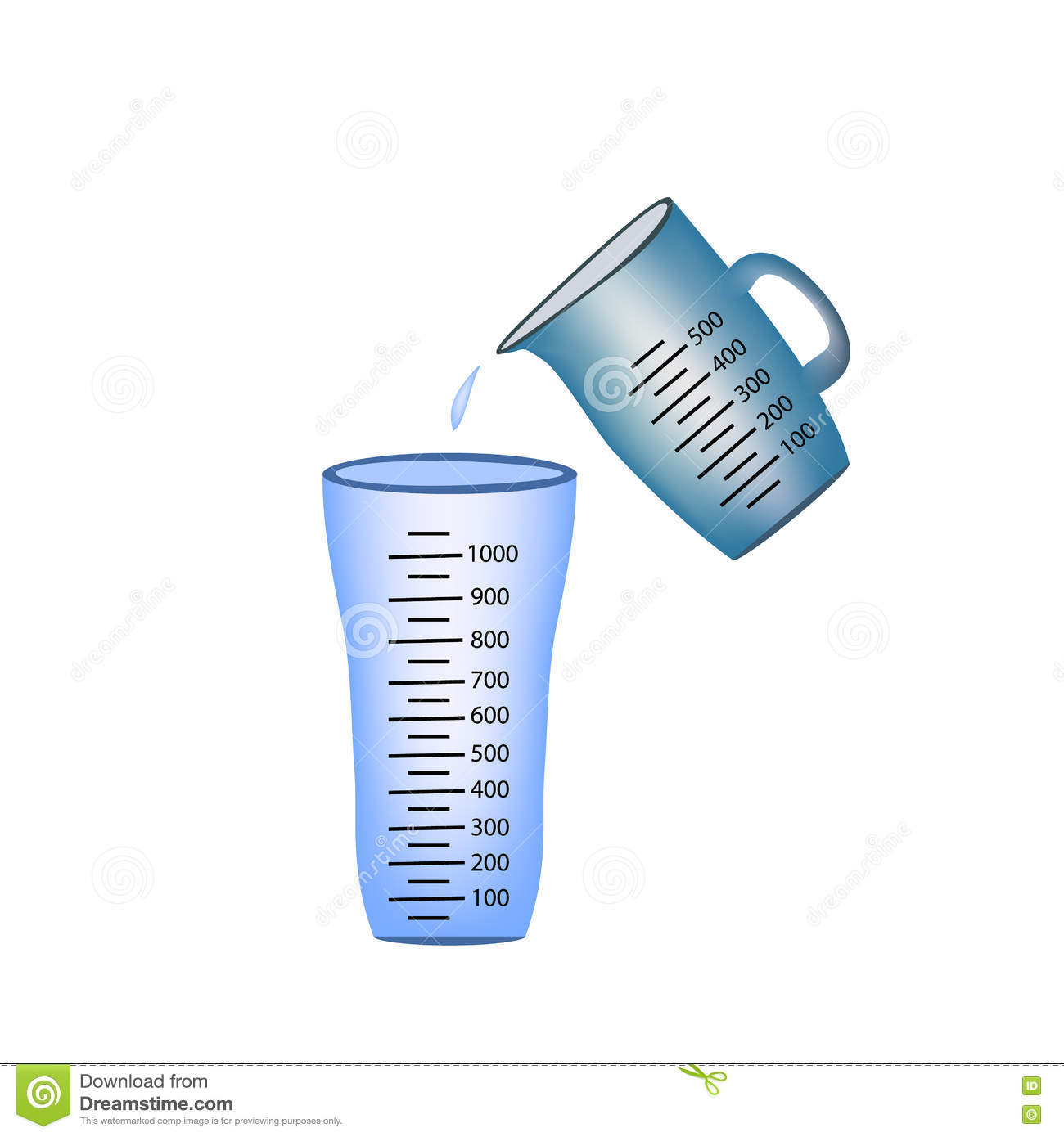 beaker measuring cup pouring of measuring cups water into a glass vector illustration on. Black Bedroom Furniture Sets. Home Design Ideas
