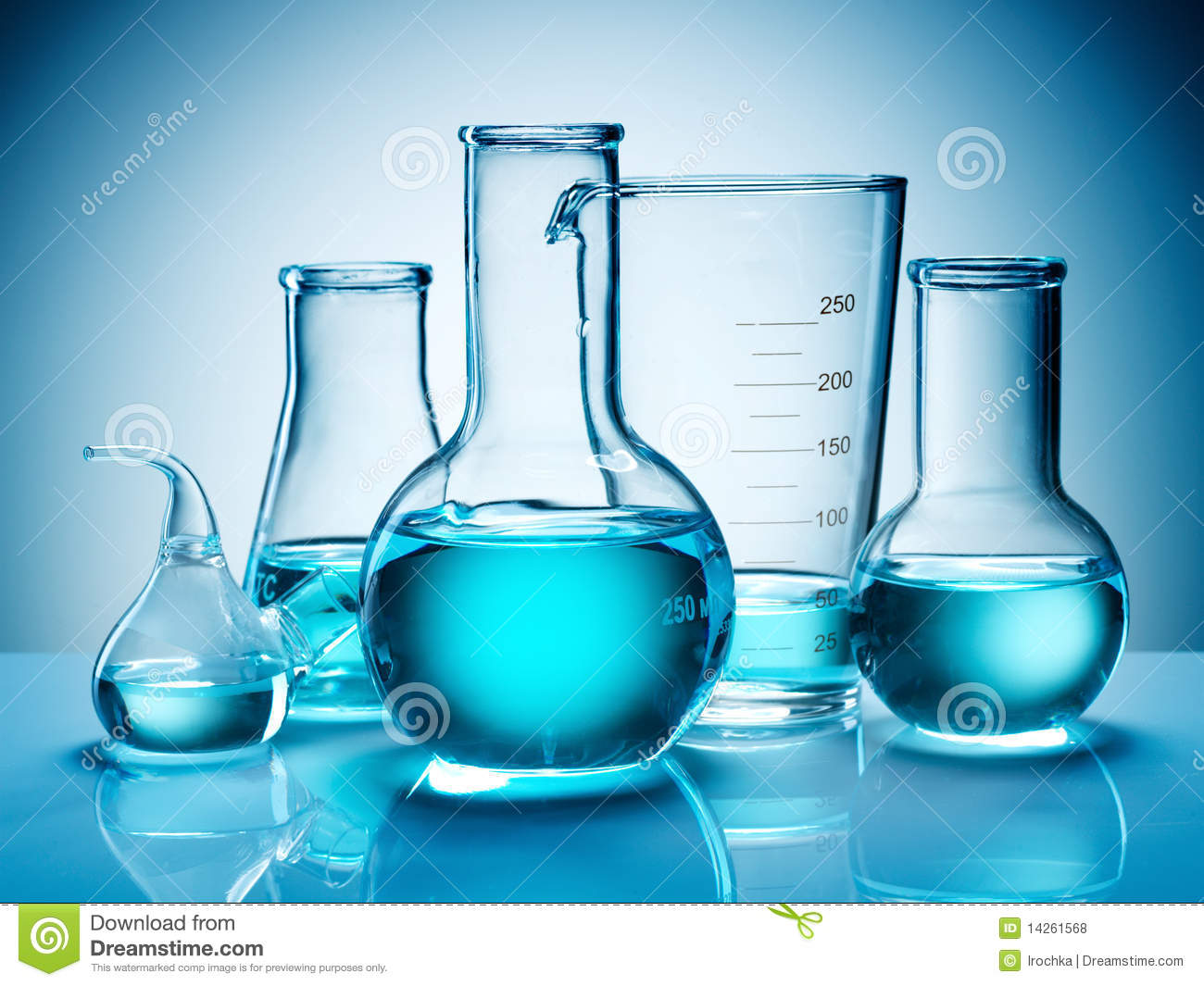 Beakers And Flasks Royalty Free Stock Photos Image 14261568