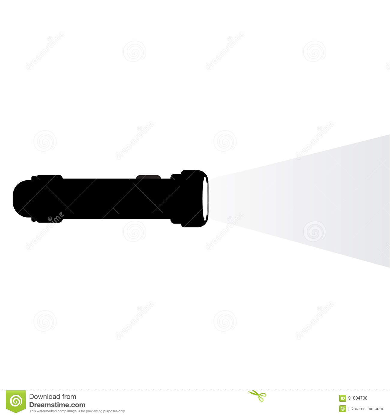 A Beam Of Light From A Flashlight Stock Vector - Image ...