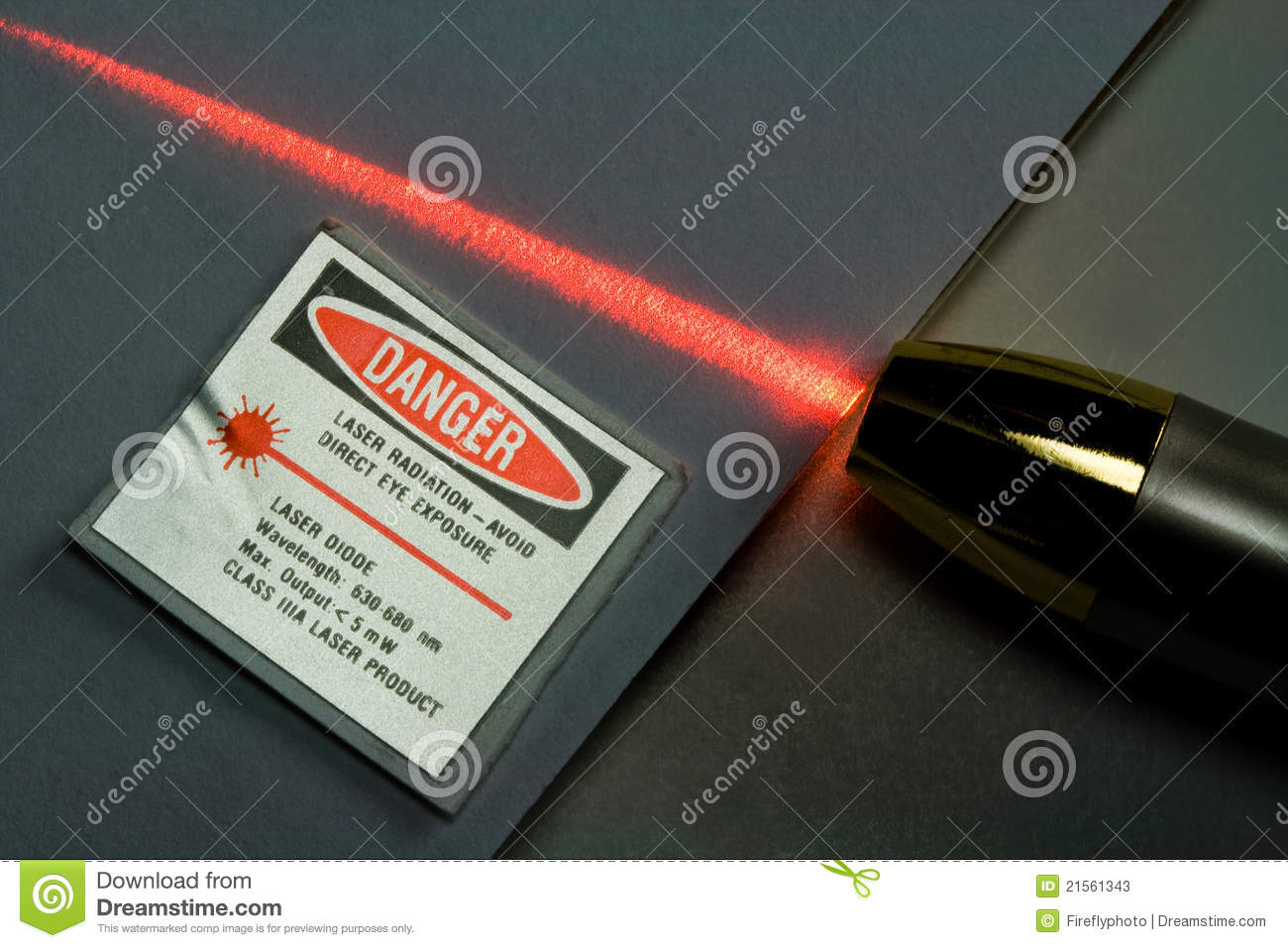 Beam of Red Laser Light