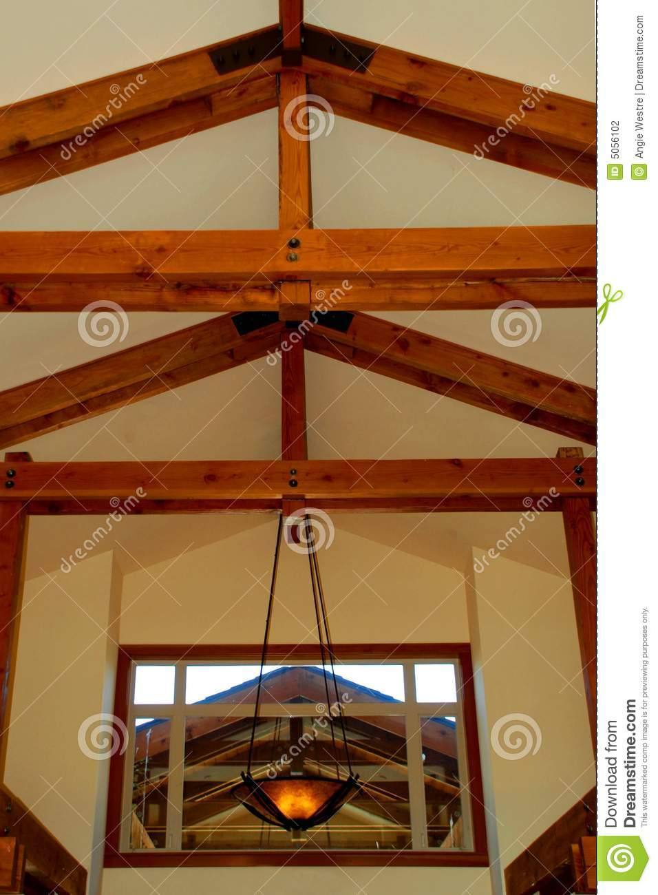 Beamed ceiling stock photography image 5056102 for Beamed ceiling