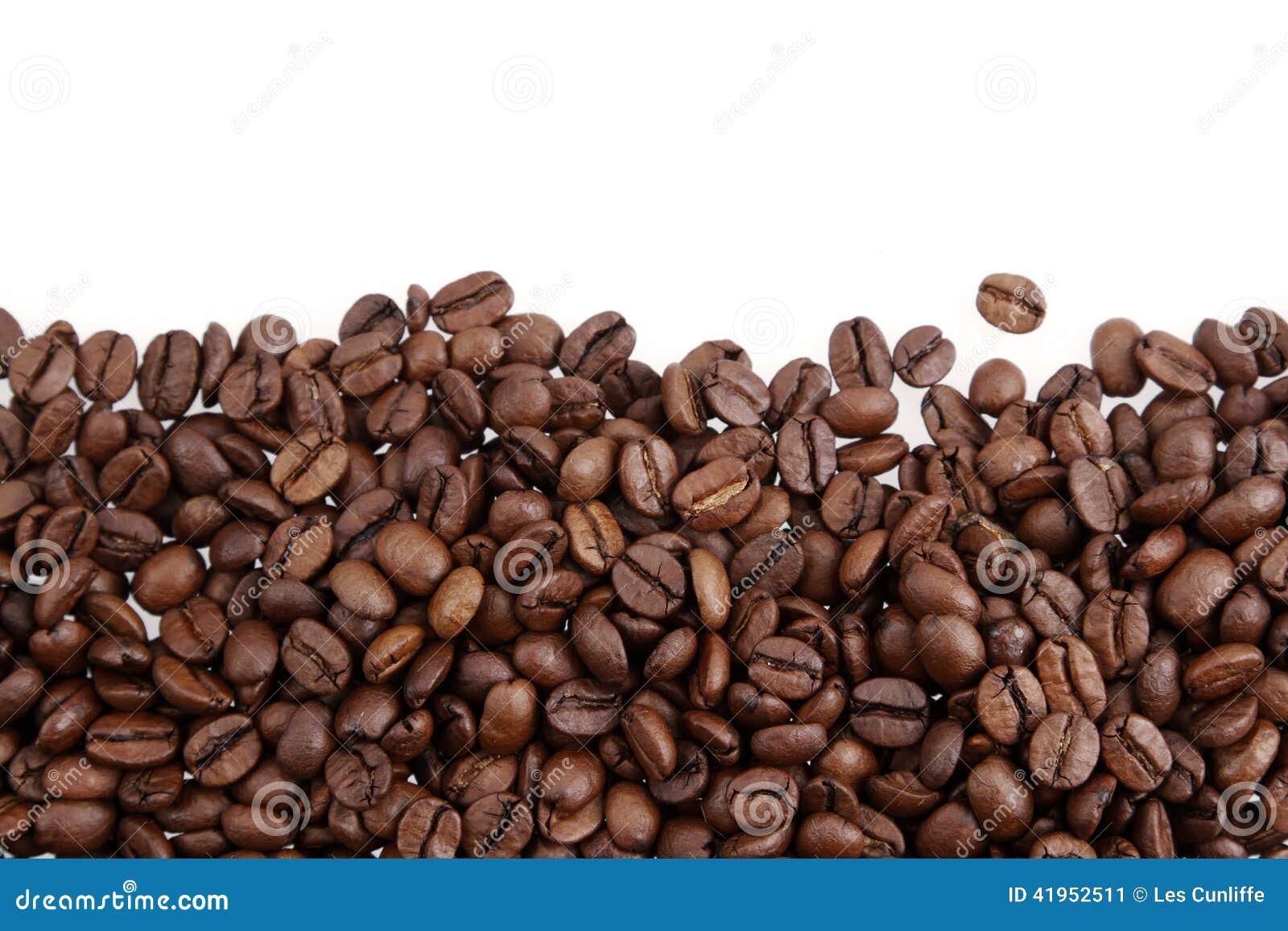Bean śniadanie kawa ideał wyizolował makro nadmiar białych