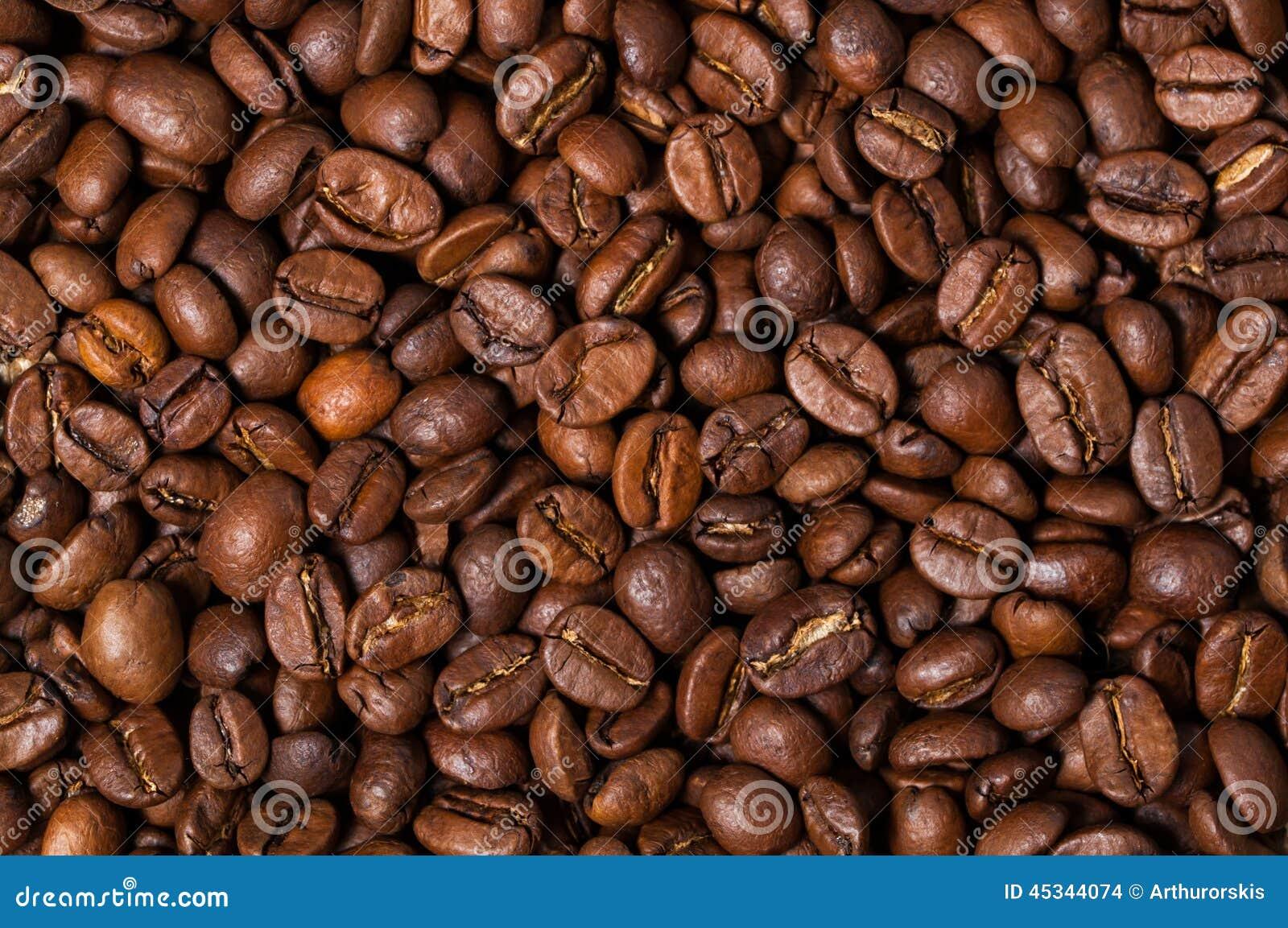 Bean śniadanie kawa ideał wyizolował makro nadmiar białych z bliska