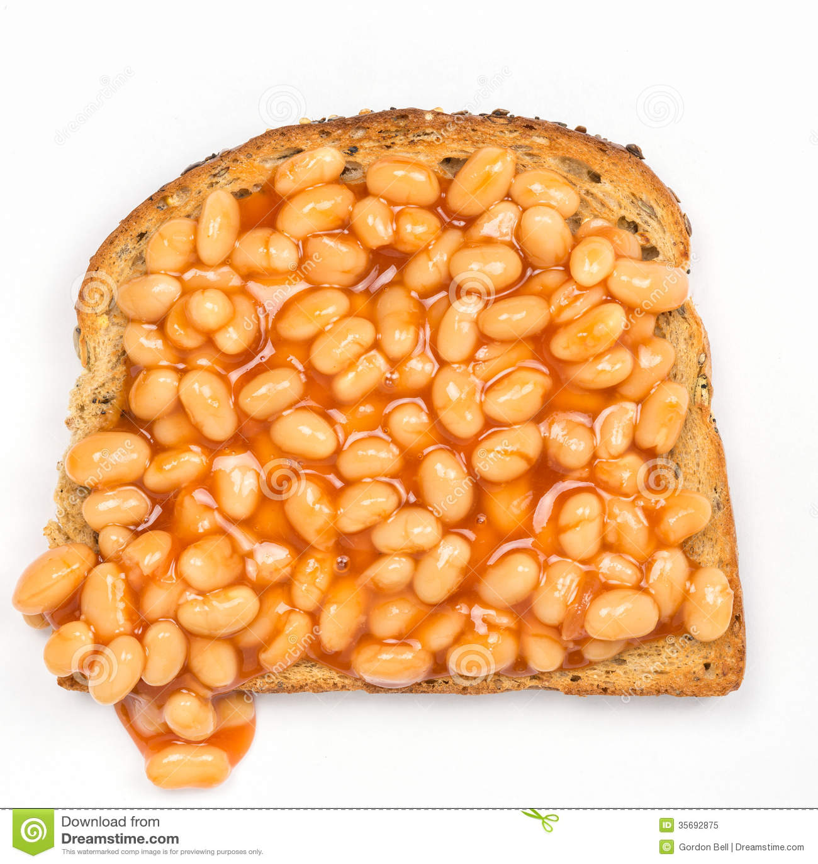 Baked Beans Toast Royalty Free Stock Image - Image: 17349746