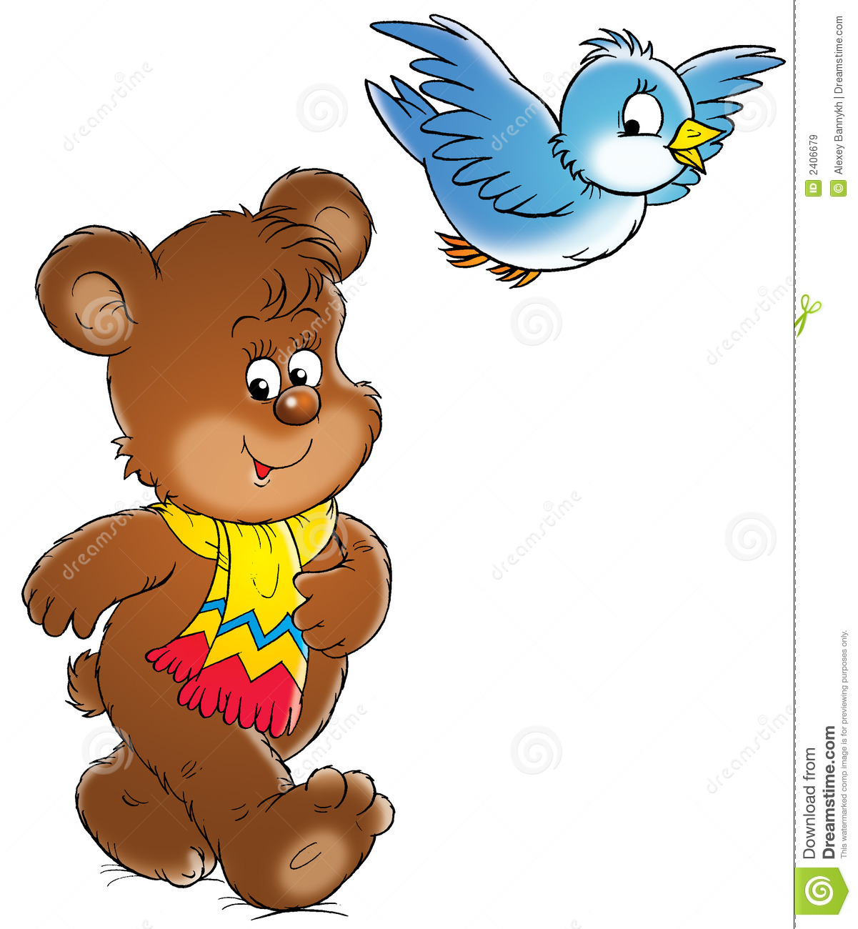 Bear And Bird Royalty Free Stock Images Image 2406679
