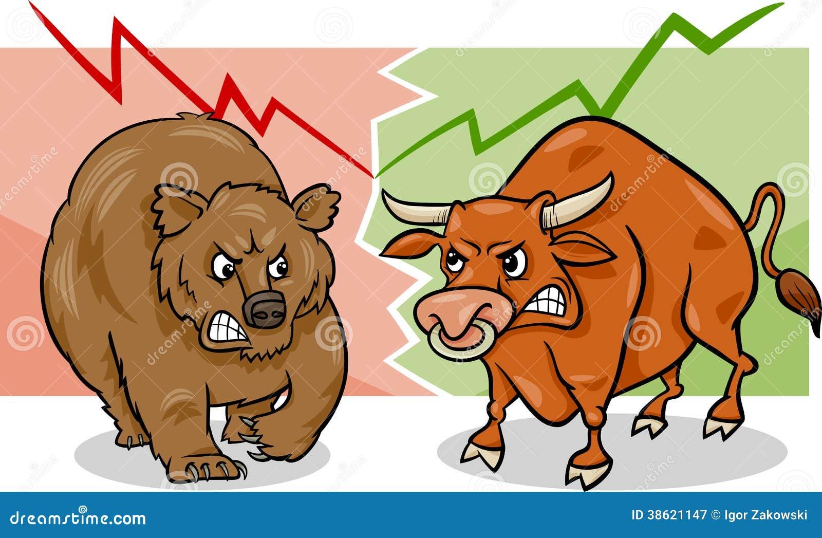 Image result for bull bear images stock market