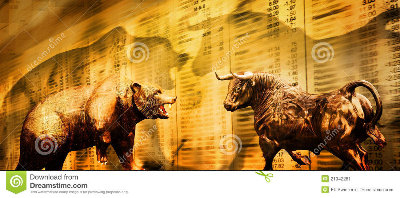 Bear And Bull Stock Market Stock Image Image 21042281