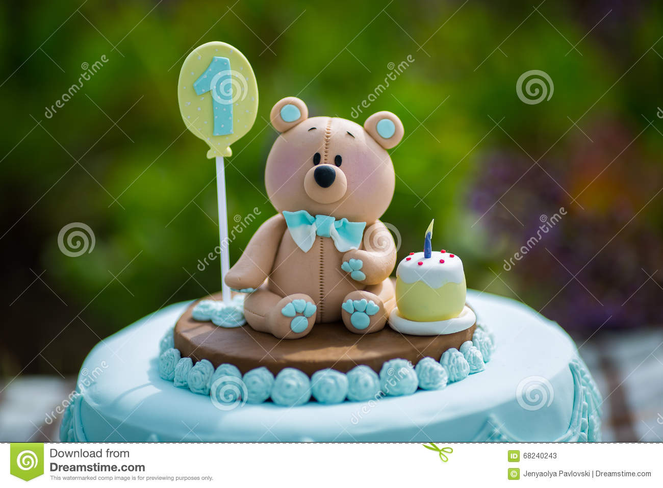 Pleasant Bear Cake Stock Image Image Of Bear First Concept 68240243 Funny Birthday Cards Online Alyptdamsfinfo