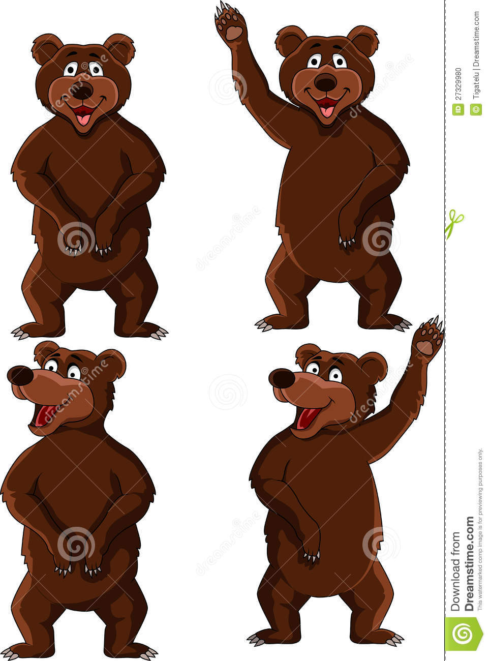 Bear Cartoon Set Stock Photo - Image: 27329980