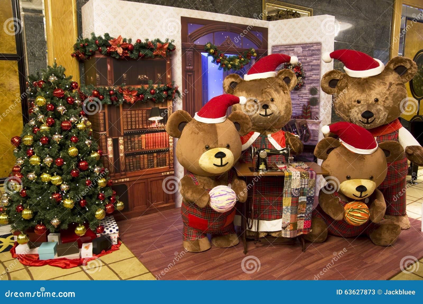 Big Bear Christmas.Bear Christmas Tree Stock Image Image Of Stop Season