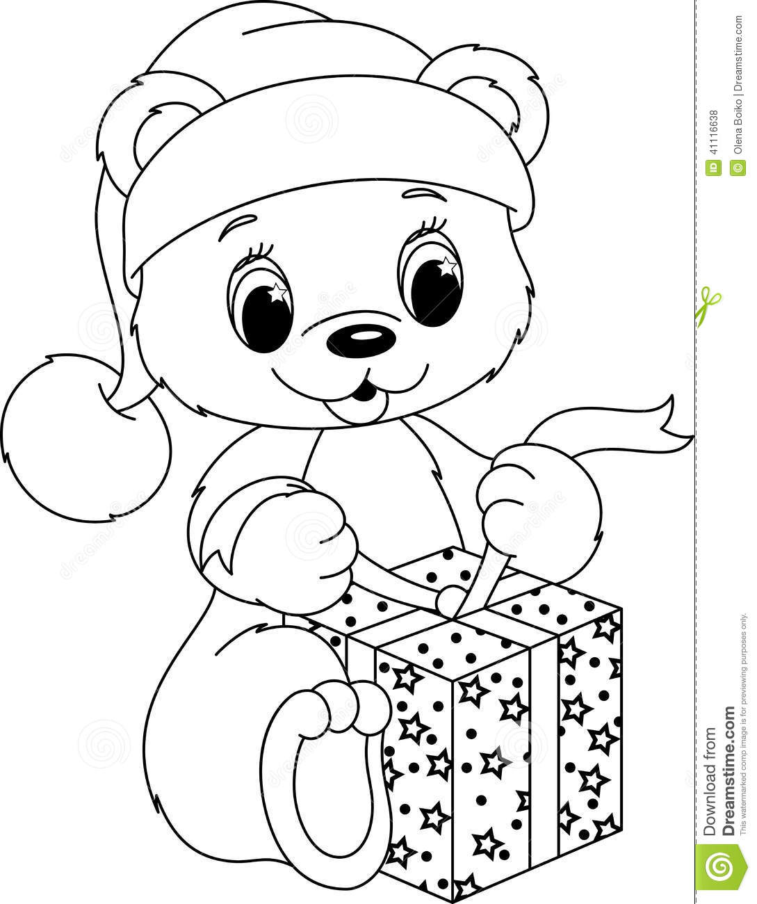 bear coloring page stock vector image 41116638