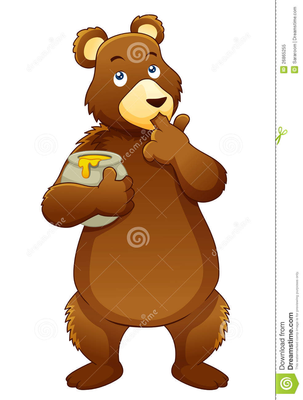 Bear Eating Honey Royalty Free Stock Photo - Image: 26865255