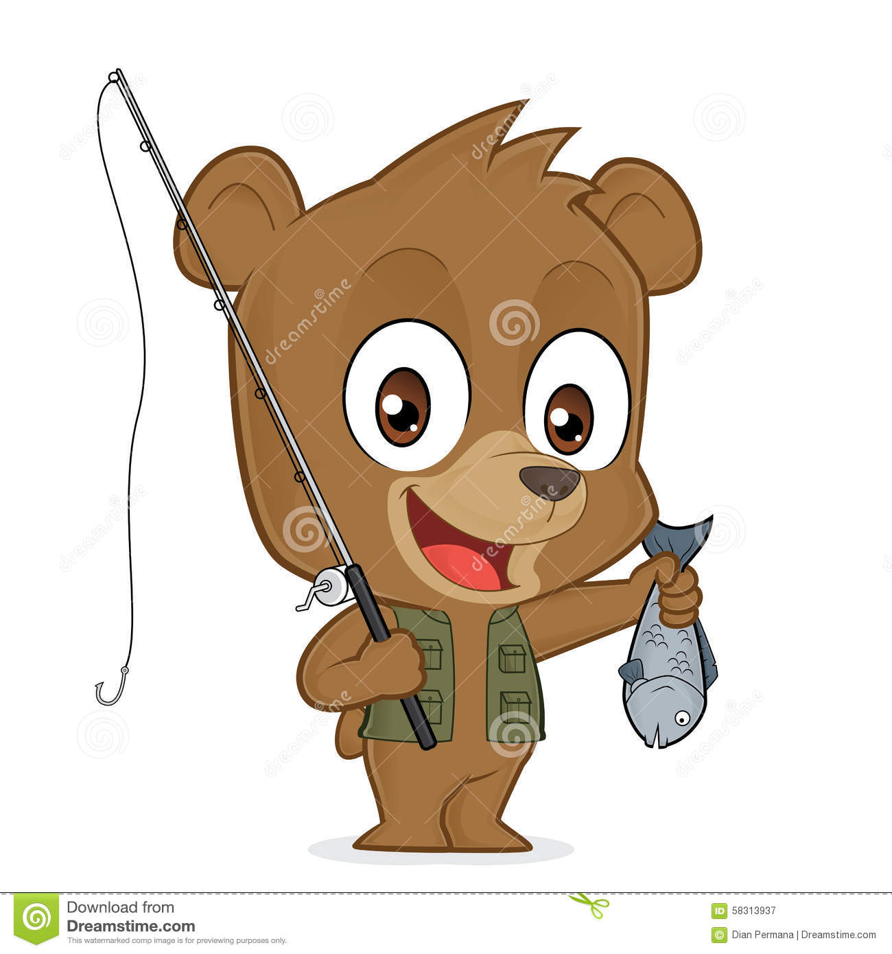 Perspective Fishing Hook Icon Vector 8251188 moreover 13 Fishing Wicked Ice Rod Reel  bos besides Stock Illustration Bear Fisherman Clipart Picture Cartoon Character Image58313937 additionally Fishing Rod likewise Confete Carnaval. on fishing tackle clip art