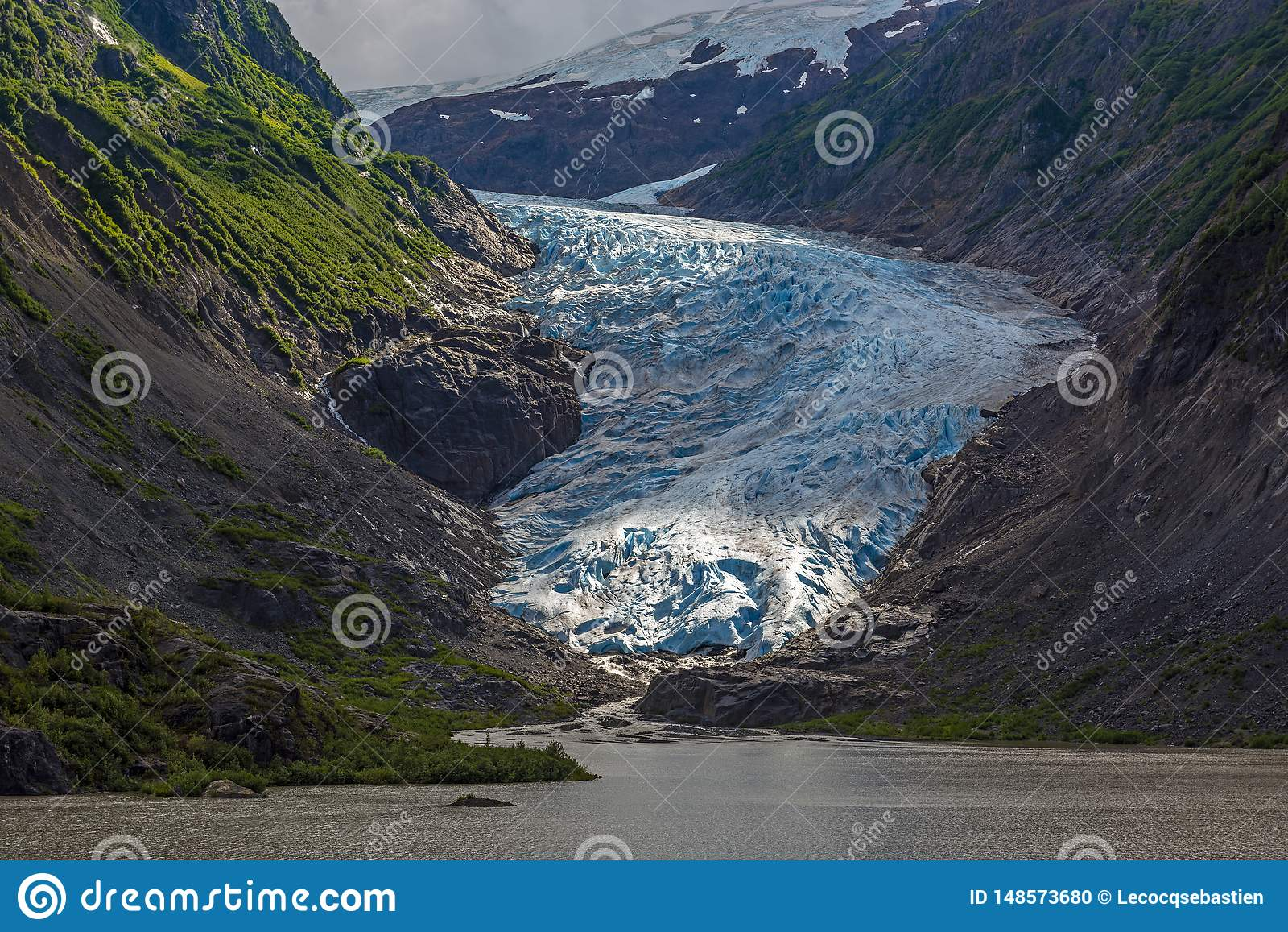 Bear Glacier in Alaska, USA