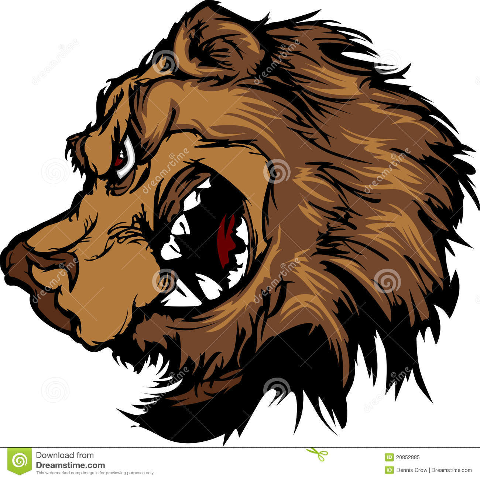 Angry bear head drawing - photo#26