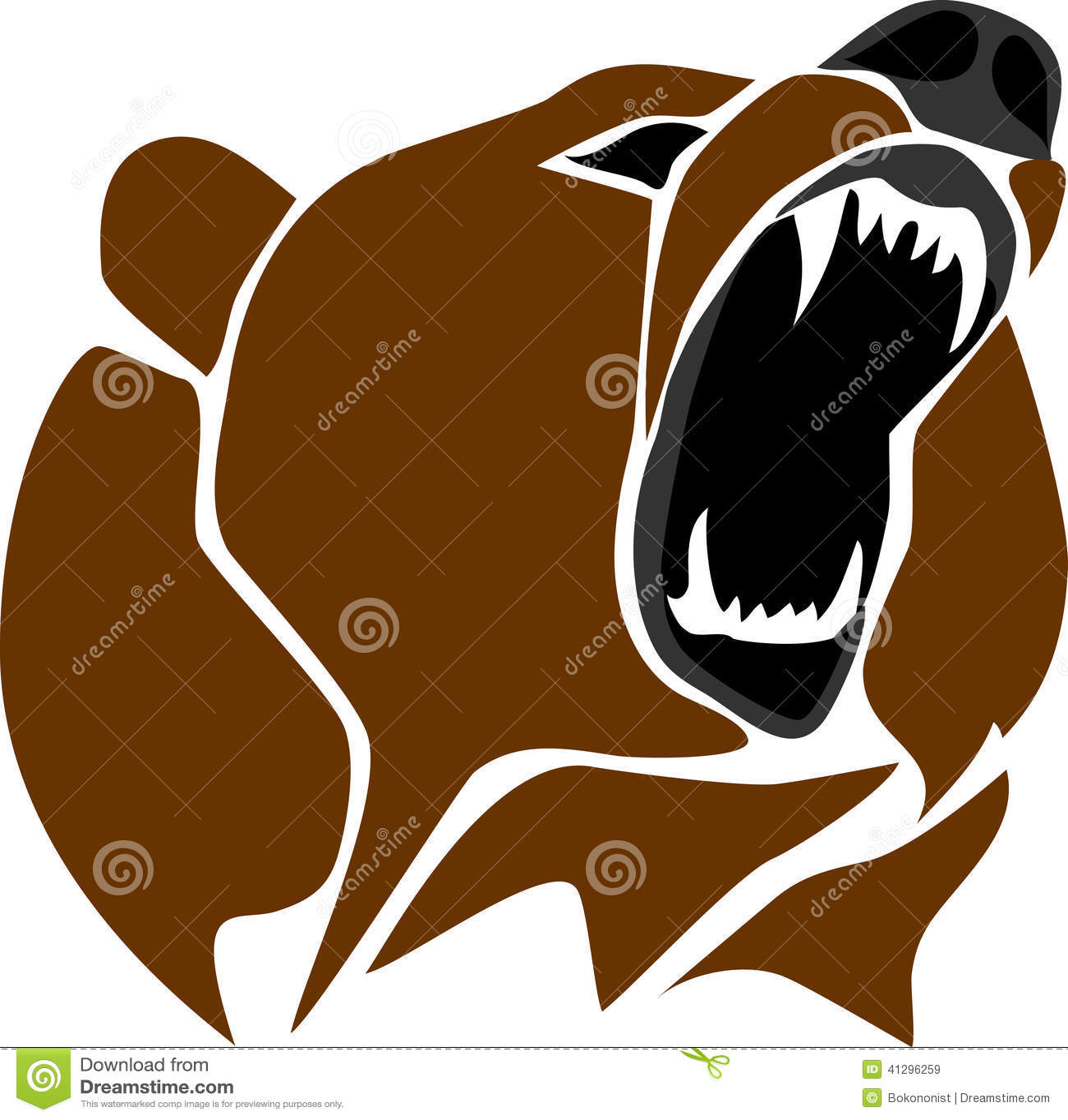 Bear Head Stock Vector - Image: 41296259 Grizzly Bear Face Logo