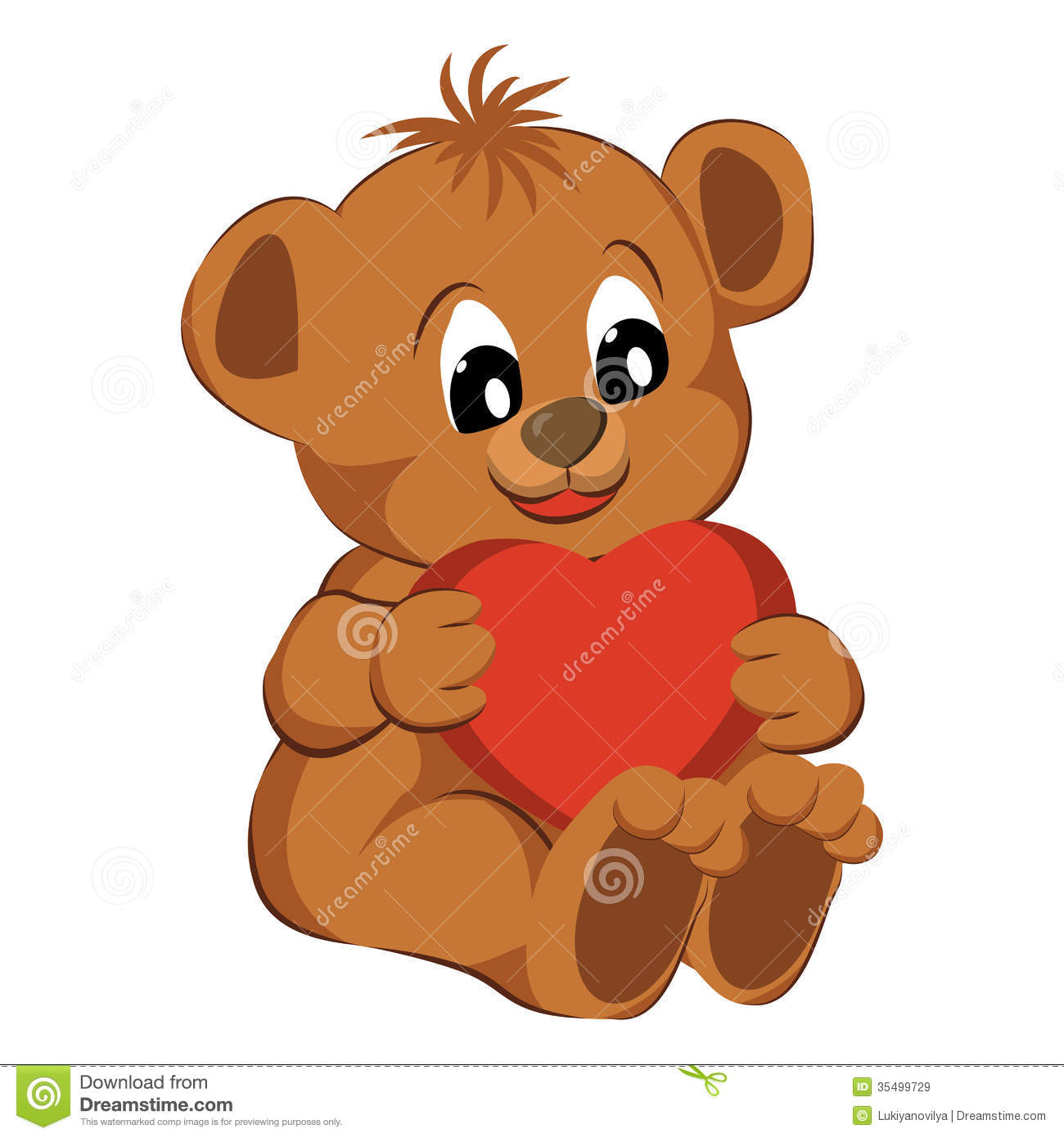 Bear With Heart On A White Background Royalty Free Stock Images ...