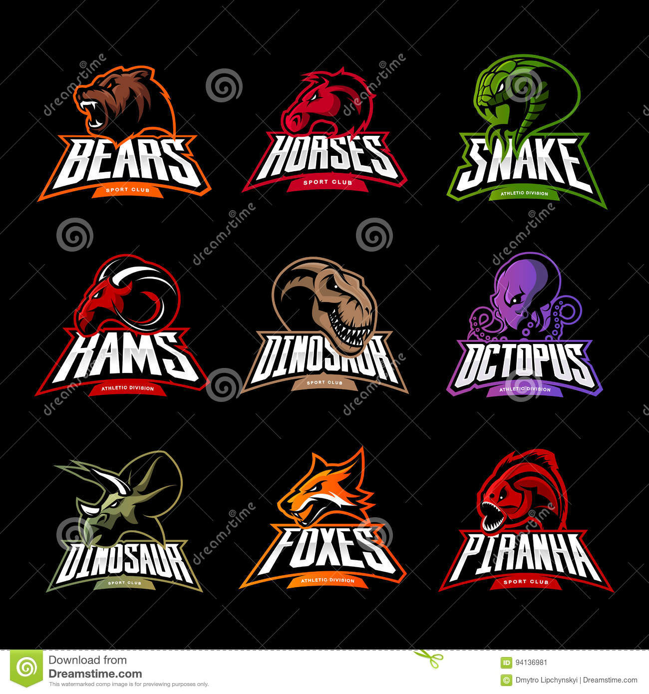 Ram Logo Vector Piranha Cartoons, Illu...