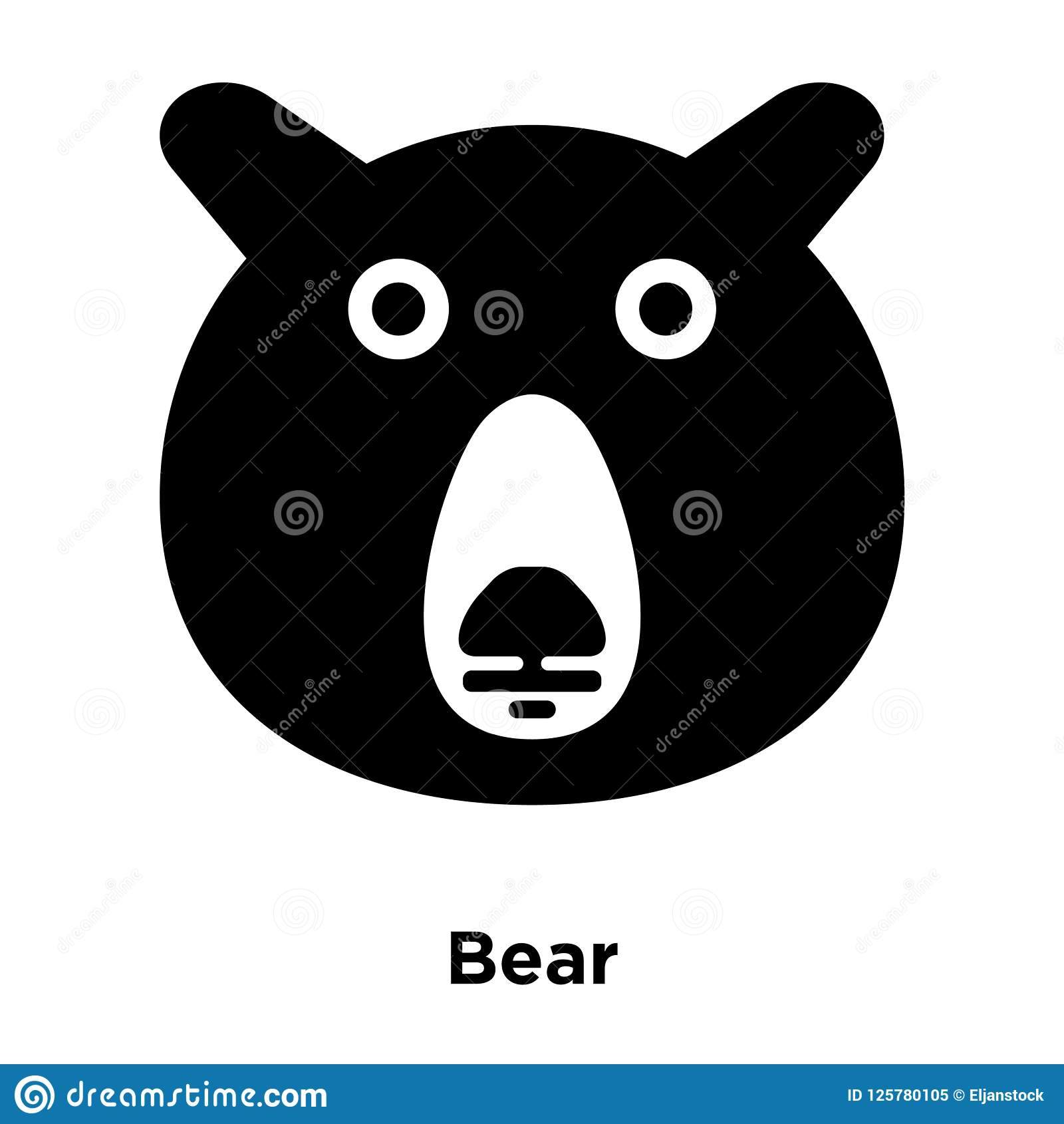 bear icon vector isolated on white background logo concept of b stock vector illustration of isolated happy 125780105 dreamstime com