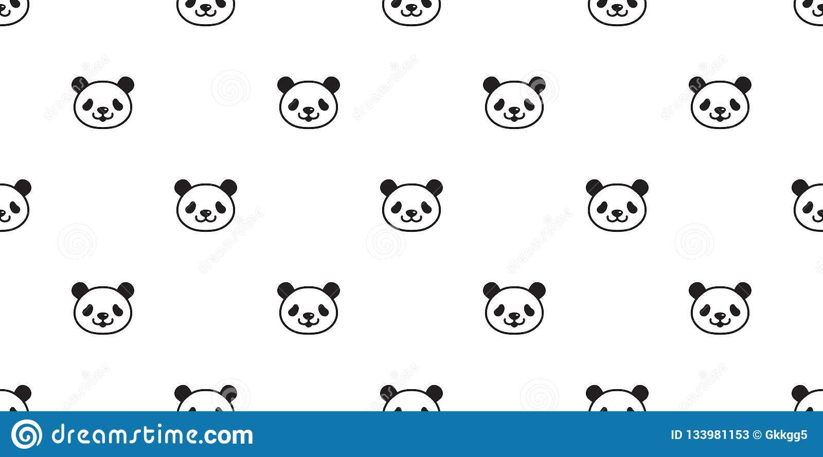 Bear Seamless Pattern Panda Vector Polar Bear Bamboo Teddy