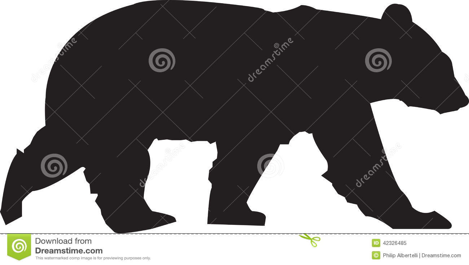 Black Bear Silhouette Pattern Bear silhouette royalty free