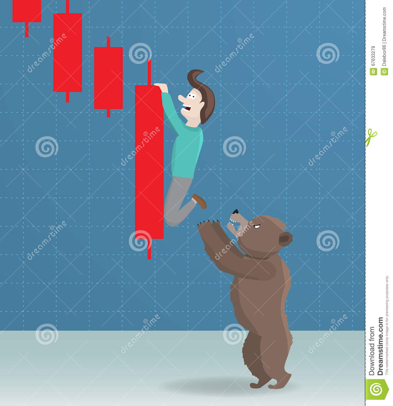 Bear and stock market decline.